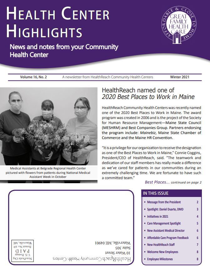 Health Center Highlights - Winter 2021